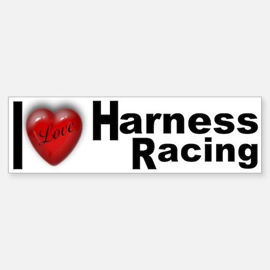 """Harness Racing"" Bumper Car Car Sticker"