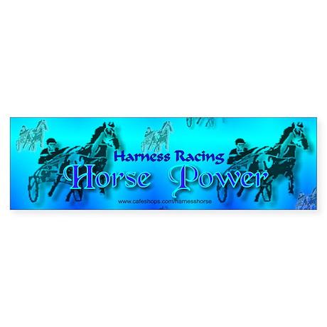 Blue Harness Racing Bumper Sticker