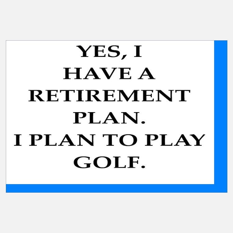 Cute Golf retirement Wall Art