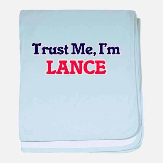 Trust Me, I'm Lance baby blanket