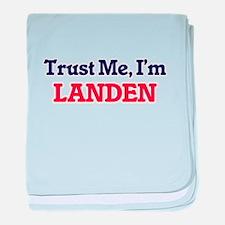 Trust Me, I'm Landen baby blanket