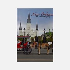 New Orleans Jackson Square Rectangle Magnets