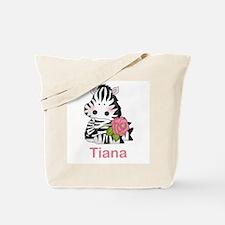 Tiana's Zebra Rose Tote Bag