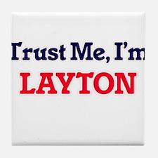 Trust Me, I'm Layton Tile Coaster