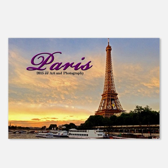 Paris Eiffel Tower Sunset Postcards (package Of 8)