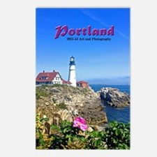 Portland Lighthouse Postcards (package Of 8)