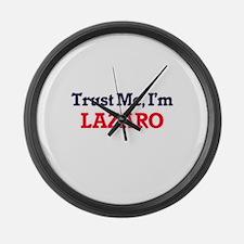Trust Me, I'm Lazaro Large Wall Clock