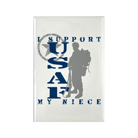 I Support My Niece 2 - USAF Rectangle Magnet