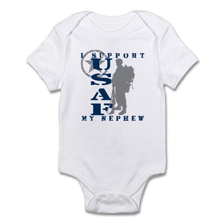 I Support My Nephew 2 - USAF Infant Bodysuit