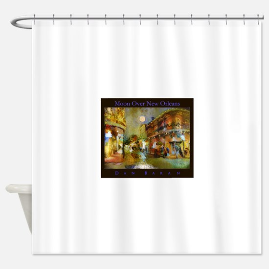 Moon Over New Orleans Shower Curtain