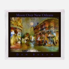 Moon Over New Orleans Throw Blanket