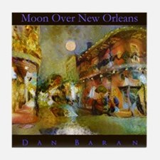 Moon Over New Orleans Tile Coaster