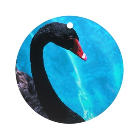 Black Swan Neck Ornament (Round)