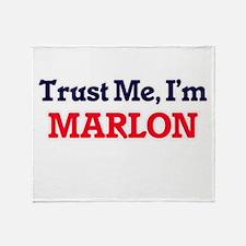 Trust Me, I'm Marlon Throw Blanket