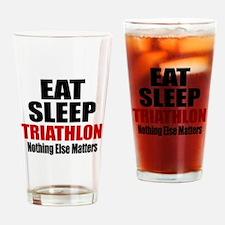Eat Sleep Triathlon Drinking Glass