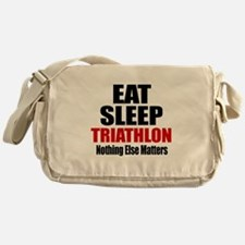Eat Sleep Triathlon Messenger Bag