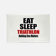 Eat Sleep Triathlon Rectangle Magnet