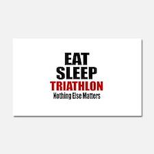Eat Sleep Triathlon Car Magnet 20 x 12