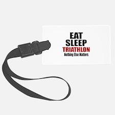Eat Sleep Triathlon Luggage Tag