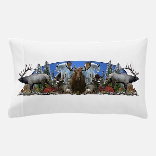 Elk,deer,moose,goat Pillow Case