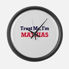 Trust Me, I'm Mathias Large Wall Clock