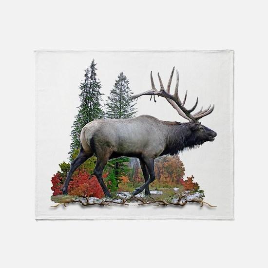 Bull elk r Throw Blanket