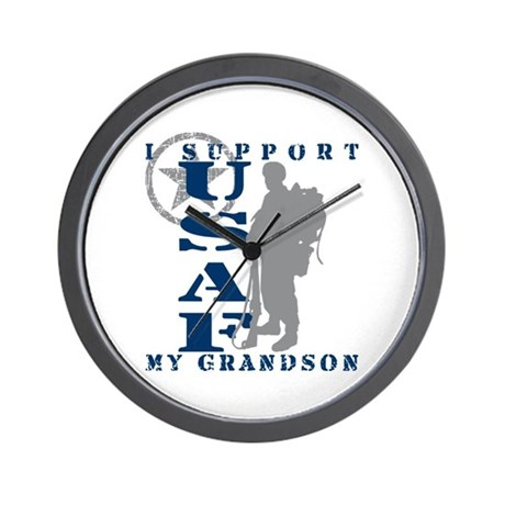 I Support My Grandson 2 - USAF Wall Clock