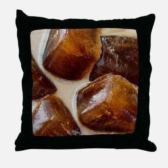 Mocha Iced Coffee Throw Pillow