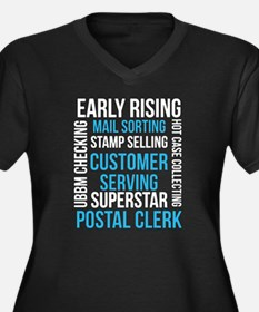 Cute Postal clerk Women's Plus Size V-Neck Dark T-Shirt