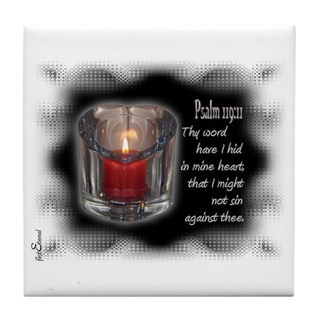 Psalm 119:11 Tile Coaster