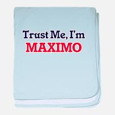 Trust Me, I'm Maximo baby blanket
