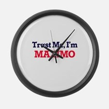 Trust Me, I'm Maximo Large Wall Clock