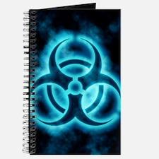 Blue Biohazard Symbol Journal