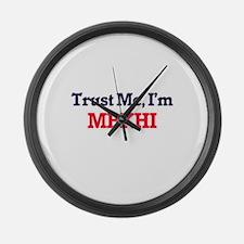 Trust Me, I'm Mekhi Large Wall Clock