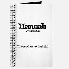 Hannah Version 1.0 Journal