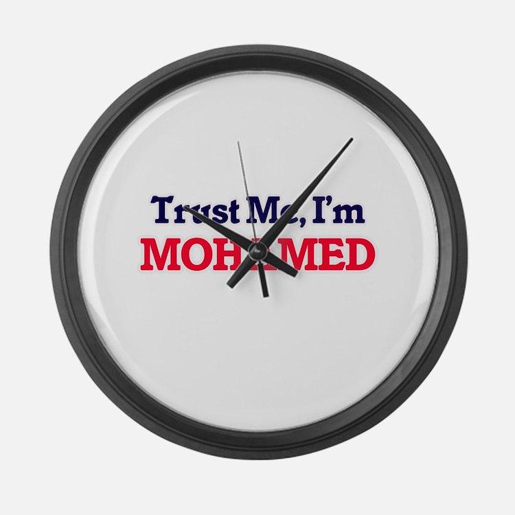 Trust Me, I'm Mohamed Large Wall Clock