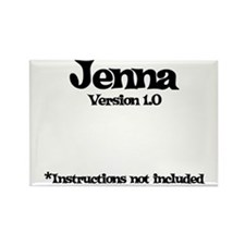 Jenna Version 1.0 Rectangle Magnet