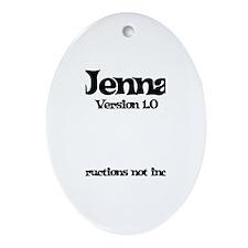 Jenna Version 1.0 Oval Ornament