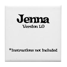 Jenna Version 1.0 Tile Coaster