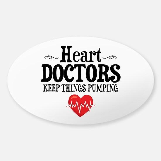 Heart Doctor Sticker (Oval)
