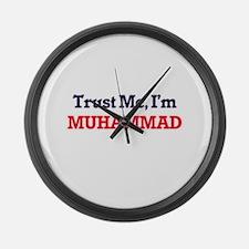 Trust Me, I'm Muhammad Large Wall Clock