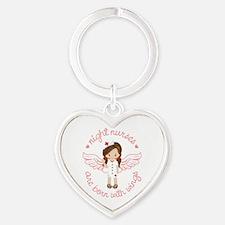 Night Nurse Heart Keychain