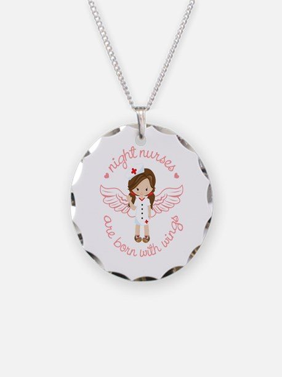 Night Nurse Necklace Circle Charm