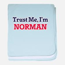 Trust Me, I'm Norman baby blanket