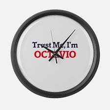 Trust Me, I'm Octavio Large Wall Clock