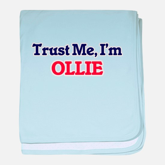 Trust Me, I'm Ollie baby blanket