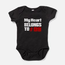 My Heart Belongs To # 09 Baby Bodysuit