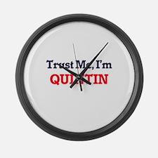 Trust Me, I'm Quintin Large Wall Clock