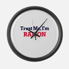 Trust Me, I'm Ramon Large Wall Clock