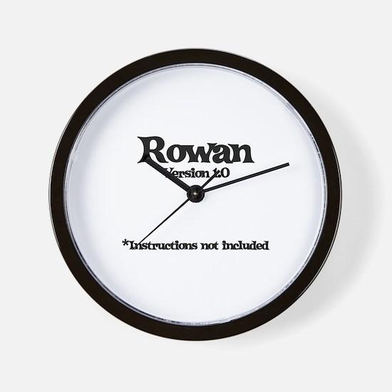 Rowan Version 1.0 Wall Clock